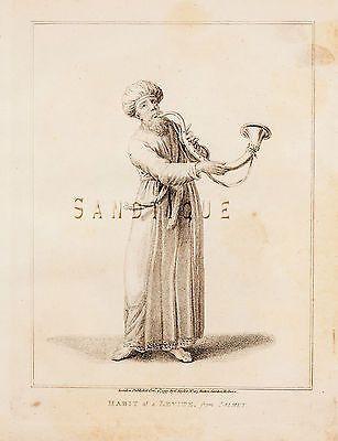 CALMET'S BIBLE DICTIONARY - HABIT of a LEVITE- Copper Engraving -1801