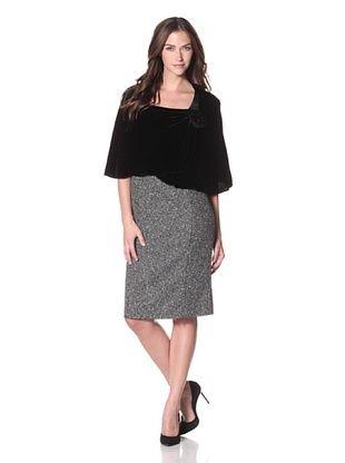 ARMANI COLLEZIONI Women's Shoulder Cover, Black, One Size