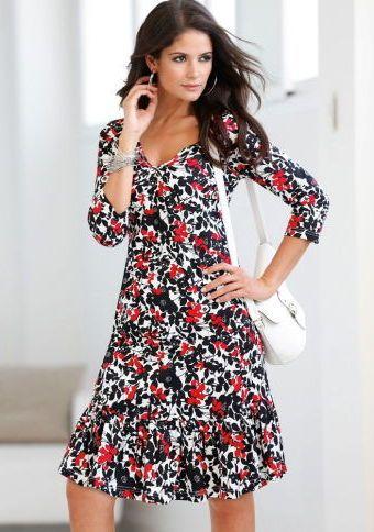 Šaty se 3/4 rukávy #ModinoCZ #dress #flowers #style #fashion #květy #květiny #móda #šaty