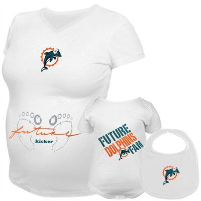 Reebok Miami Dolphins Future Player Maternity & Infant 3-Piece Set OMG NEED for our next baby!