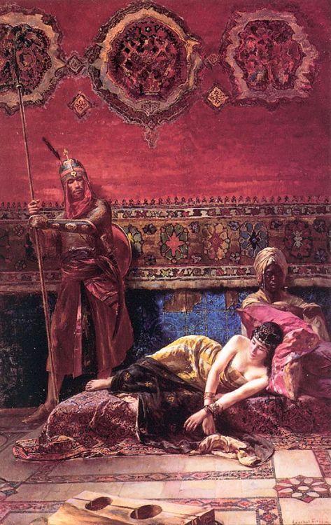 The Pasha's Concubine - Ferencz-Franz Eisenhut 19th century