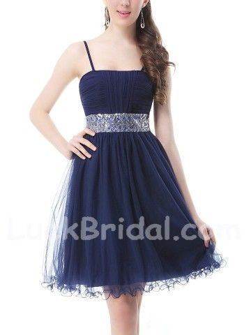Dark Navy Homecoming Dresses Party Dresses