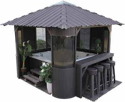 Garden Hot Tub Luxury Spa Gazebo Jacuzzi Relax Bar Kit 3 Side Panels