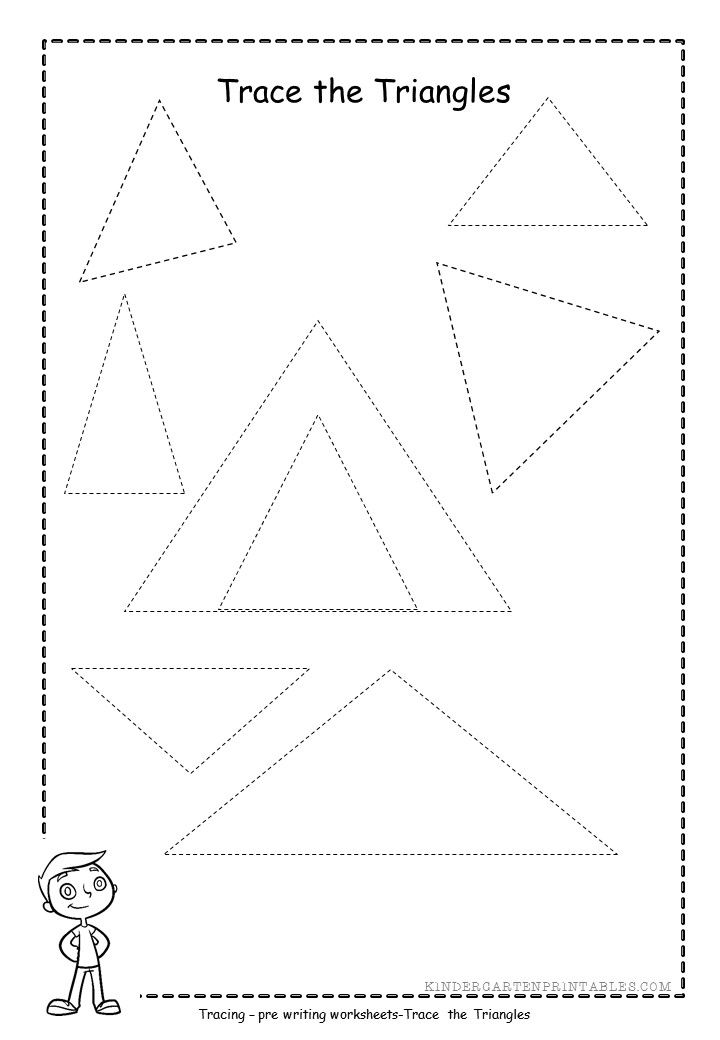 triangle tracing worksheets free printables triangle tracing ...