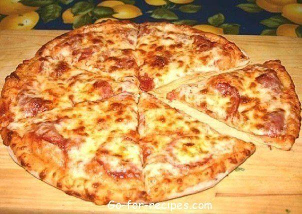 Pizza on kefir.