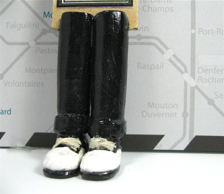 Black and White Saddle Shoes.  A cute bookmark for any occasion.  100% handmade with polymer clay, wood, acrylic paint, and varnish.
