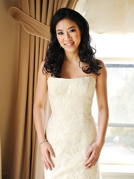 My first wedding dress post. I just really appreciate the simplicity and elegance brought forth through the cut and material. Vera Wang.  MICHELLE KWAN: NOW photo | Michelle Kwan