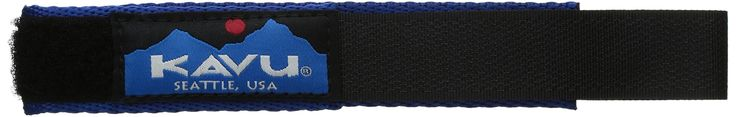 "Kavu Watchband, Blue, Large. Nylon tubular webbing, hook and loop closure, good for multiple uses - use your imagination. Dimension: S = 7.5"" with 5/8"" Velcro, L= 8.5"" with 3/4 "" Velcro. Fabric; nylon."