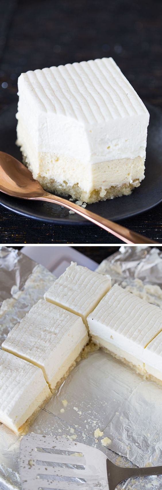 This recipe for Vanilla Bean Cheesecake bars on a buttery macadamia nut crust is…