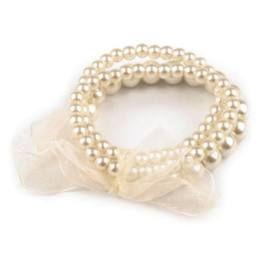 Wedding beige pearl bracelet