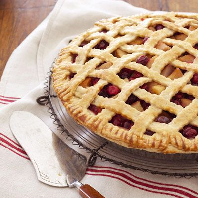 This fruity dessert is bursting with ripe pears. And did we mention it's almost too gorgeous to eat? Get the recipe for Pear-Cranberry Lattice Pie »  - GoodHousekeeping.com