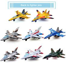 US $2.06 1 Pc Creative Alloy Military Warplane Aircraft Model Kids Children Fighter Plane Toy Best Christmas Gift Random Color & Type. Aliexpress product