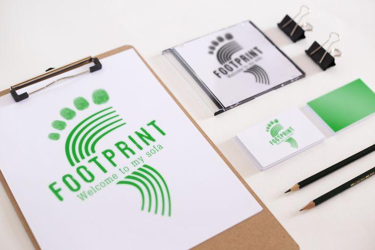 Logo réalisé pour FootPrint [Chaine Youtube] Planche de mise en situation