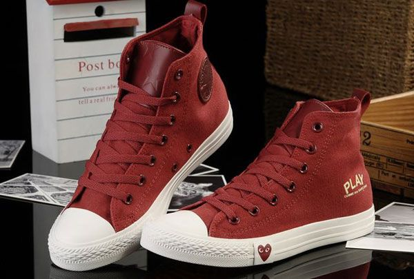 Limited Edition Red High Tops Converse All Star Light Comme