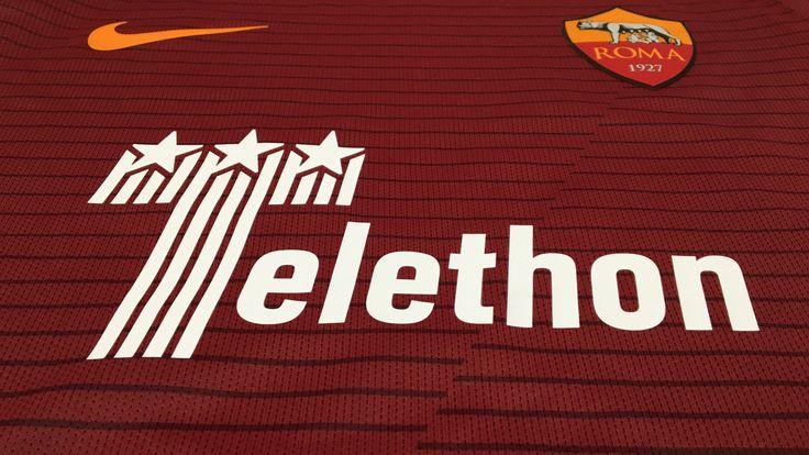Nell'ambito delle iniziative a sostegno della campagna #presente la Roma scenderà in campo nella partita contro la Juventus di sabato prossimo con il logo di Telethon sulla maglia