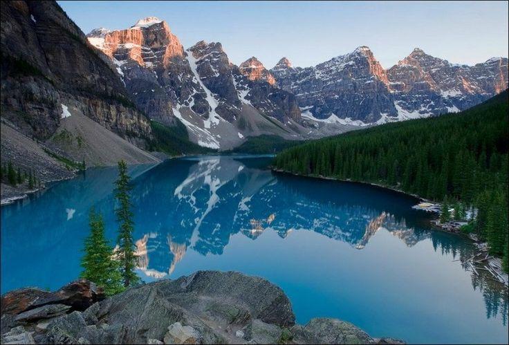 Moraine Lake, Banff National Park  Alberta, Canada (199 km west of Calgary)