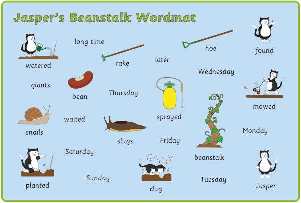 Jasper's Beanstalk Word Mats