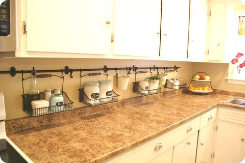 Hang everything!  So much easier to keep those counters cleaned!