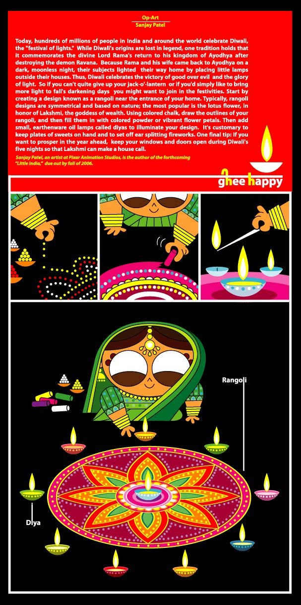 SanjayPatel - Diwali  Thank you Nimita! I am going to use this and your book suggestion. And we are going to make rangolis!