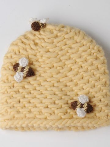 Bee Skep Hat, Bees Wax by Virginia Dunn  Here is an adorable idea for your store @Chelsea Howell