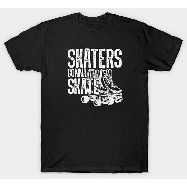 Roller Skates T-Shirt ($20) ❤ liked on Polyvore featuring tops, t-shirts, skate tees, skate t shirts and skater tops