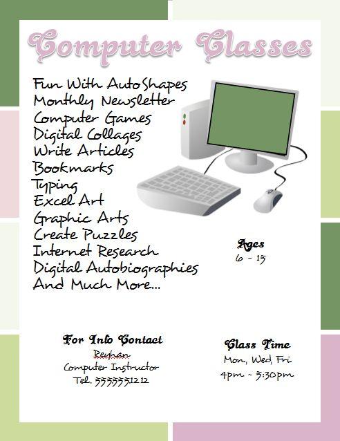 openoffice flyer template