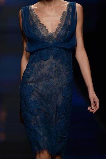 blue lace v neck