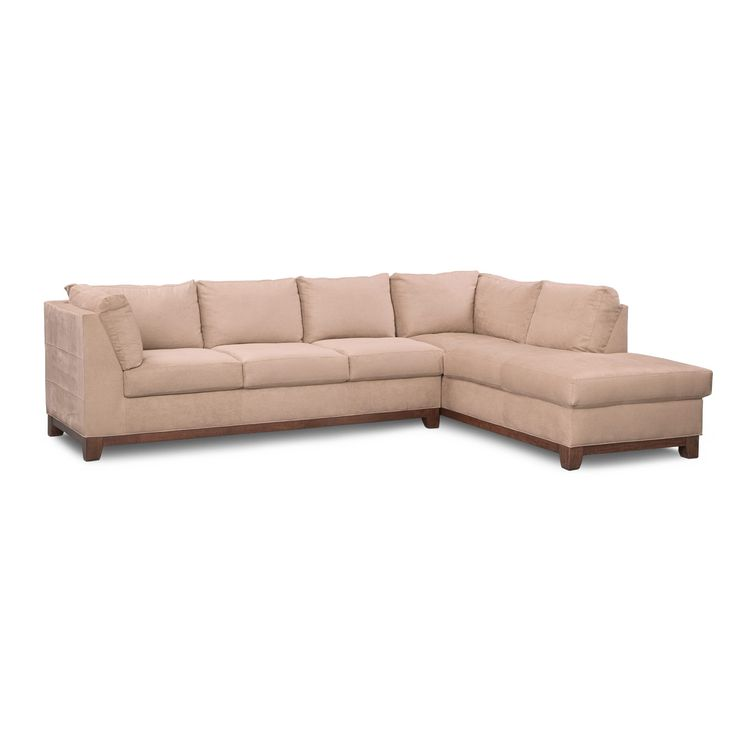 Living Room Furniture - Soho 2-Piece Right-Facing  Sectional - Cobblestone