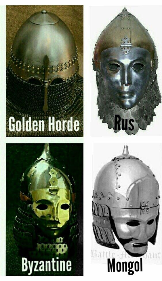 Golden Horde, Rus, Byzantine, Mongol, helmet,