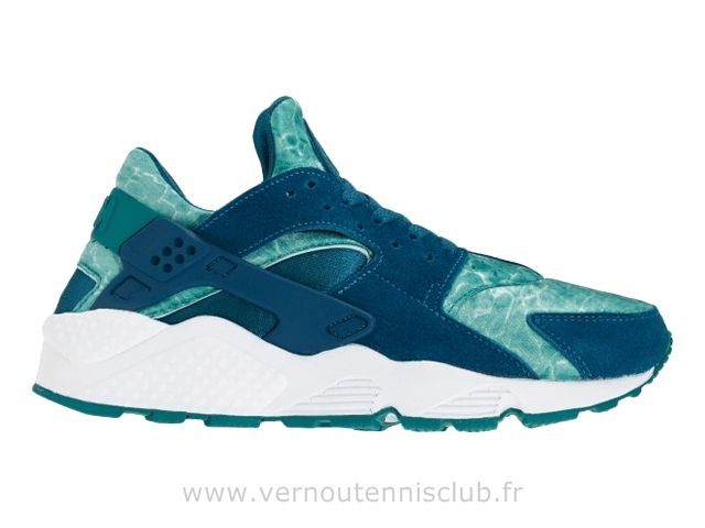 Air Huarache Punch Black Blanc bleu