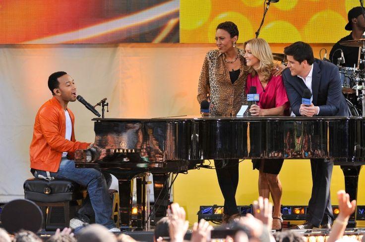 John Legend, Robin Roberts, Lara Spencer, And Josh Elliott | GRAMMY.com