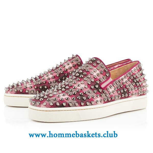 plus récent 62510 b2013 Christian Louboutin Homme Roller-Boat Multi/Spikes EVEQUE ...