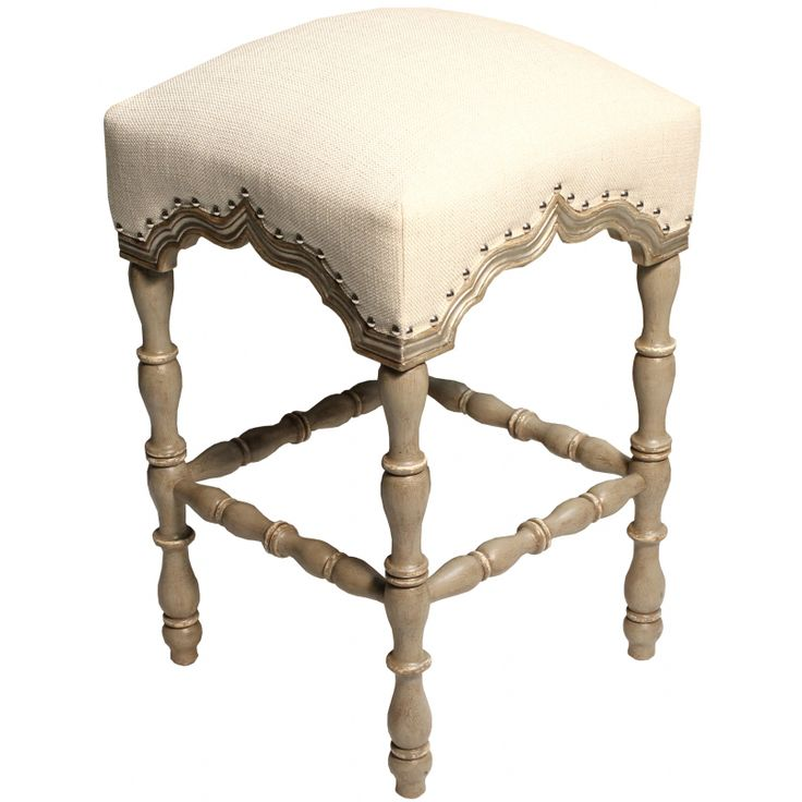 Natural Tabouret Bar Stool - French Country