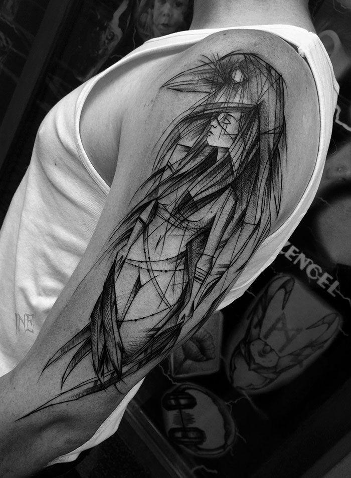 40 tatouages version croquis, la beauté de l'imperfection - Koalol