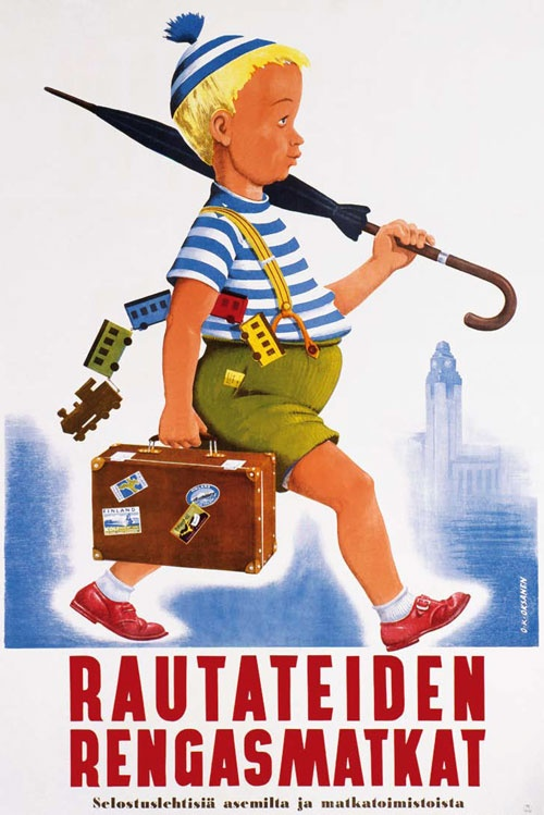 Finland travel poster, Finnish Railways