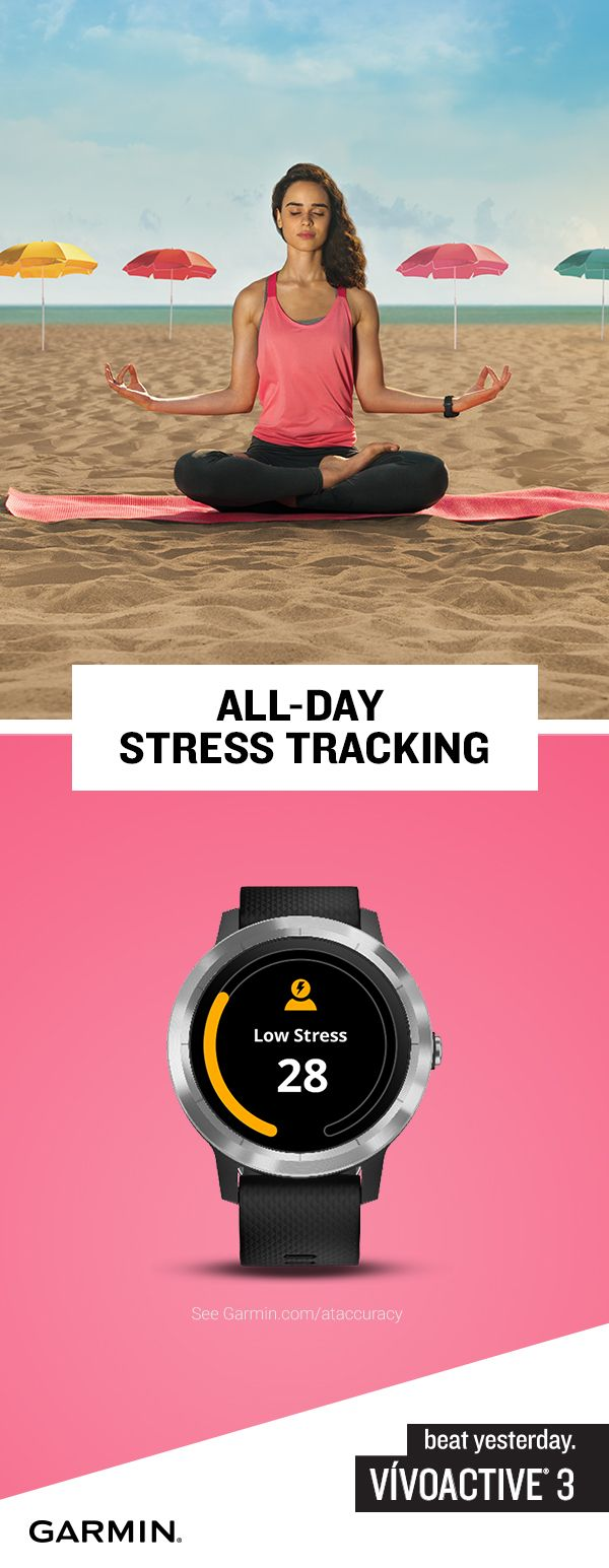 Track your stress ... or the lack thereof with the new vivoactive 3.