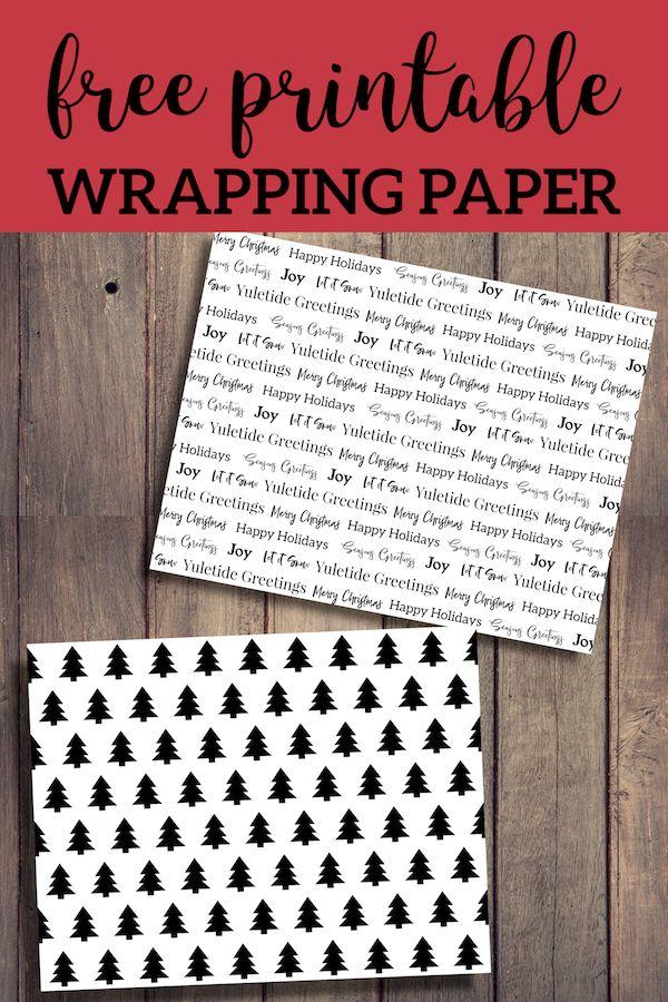 free printable christmas wrapping paper printables christmas rh pinterest com