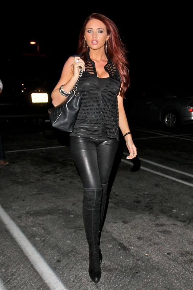 designerleather: Amy Childs leather leggings and boots | leather ...