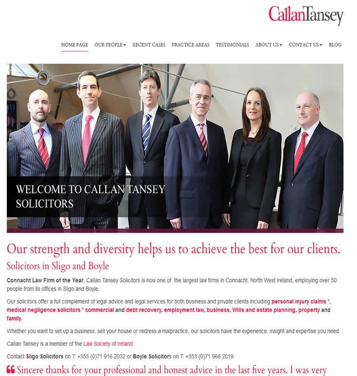 Format.ie web design in Sligo launch new legal website for Callan Tansey Solicitors in Sligo and Boyle.