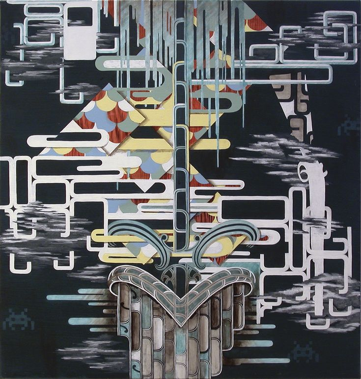 Hemi Macgregor, Te Aka,  2010, acrylic on canvas.