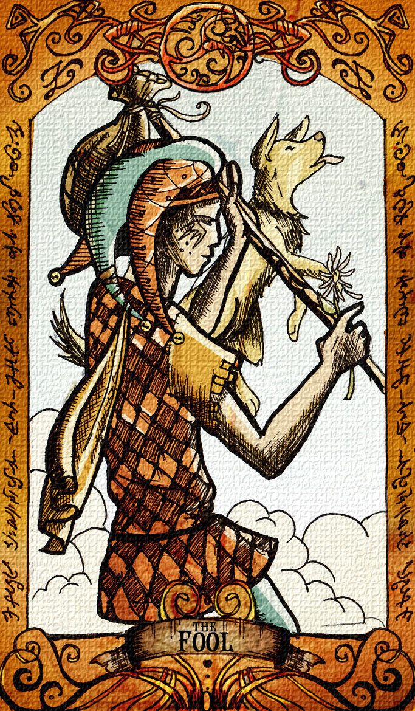 The Fool Tarot Card (by zoziejane)