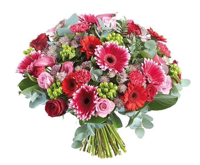 Bloemen van DEEN worden gratis thuis bezorgd, komen dagelijks vers van de veiling en worden met de hand gebonden door professionele bloemisten. Zeker 1 week vaasgarantie! Dit boeket bevat: •Rozen •Veronica •Anjer •Zanthedeschia •Astrantia •Germini •Eucalyptus •Laurier
