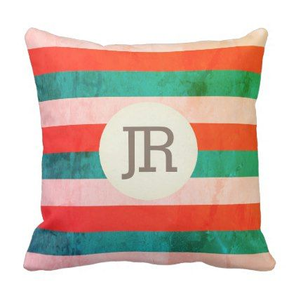 Giant bold stripes marble stone surface throw pillow - patterns pattern special unique design gift idea diy
