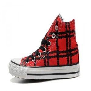 Converse Chuck Taylor All Star herre sko svart tiger tatoveringer grid rød  høy topp lerret