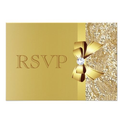 869 best glitter rsvp wedding invitations images on pinterest rsvp gold sequins bow and diamond rsvp personalized invitation stopboris Images