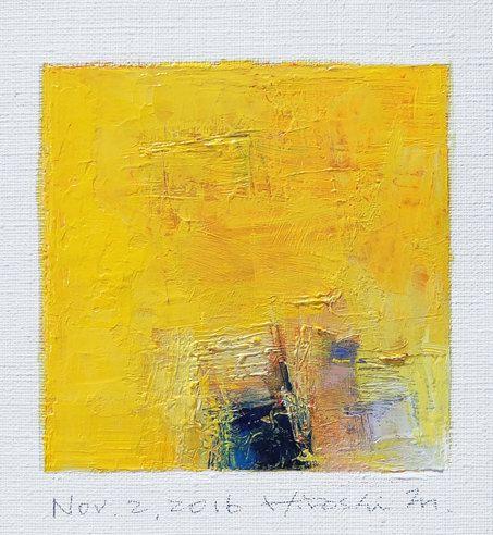 Nov. 2 2016  Original Abstract Oil Painting  by hiroshimatsumoto