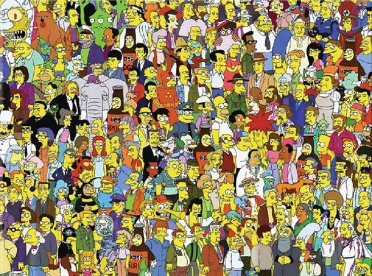Desafio: Encontre o Sr Burns entre os personagens do Simpsons