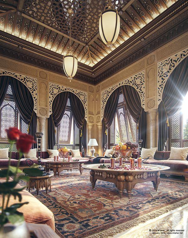 """"""" Oriental Majlis """"Villa """"Sheikh Nawaf Al-khalifa"""" - Qatar"""
