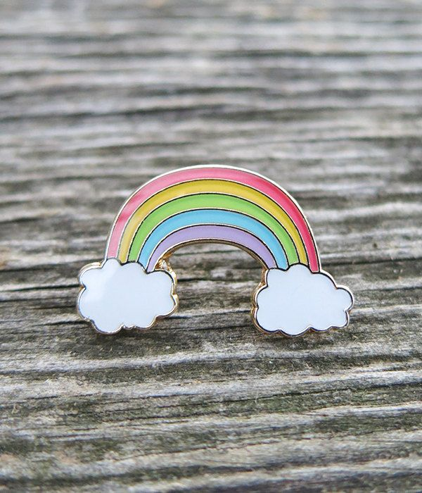 Rainbow Lapel Pin.