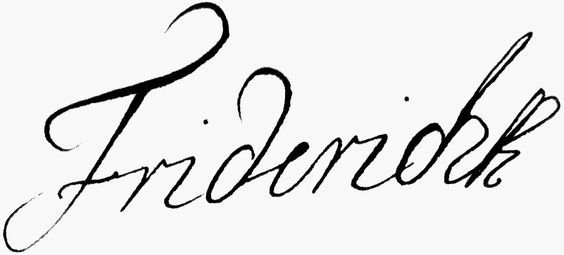 Frederick IV of Denmark's signature